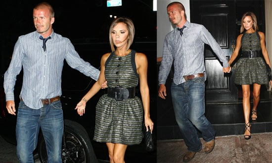 Photos of David Beckham and Victoria Beckham at Beso in LA