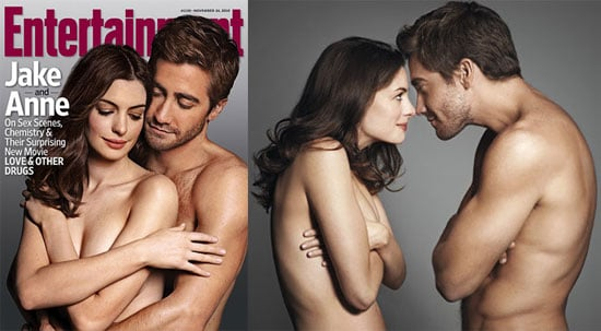 Pictures of Shirtless Jake Gyllenhaal and Topless Anne Hathaway on the Cover of EW