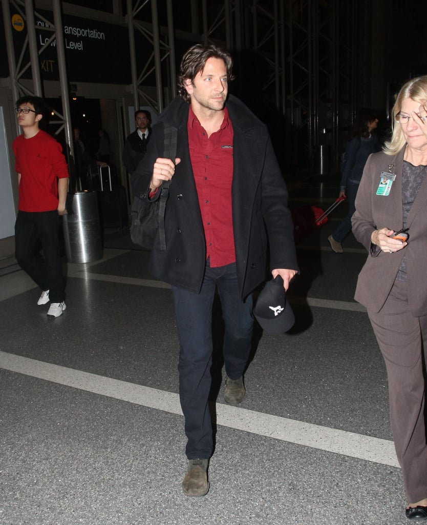 Bradley Cooper caught a flight out of LAX.