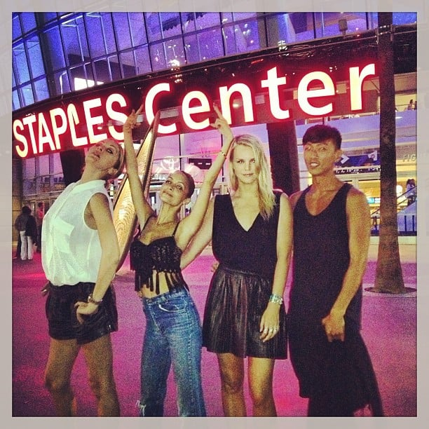 Nicole Richie and friends stepped out for Beyoncé Knowles's show at the Staples Center in LA. Source: Instagram user nicolerichie