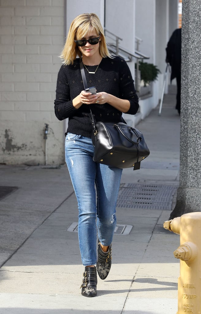 Witherspoon's studded Chloé boots lent a dash of edge to her LA style earlier this year.