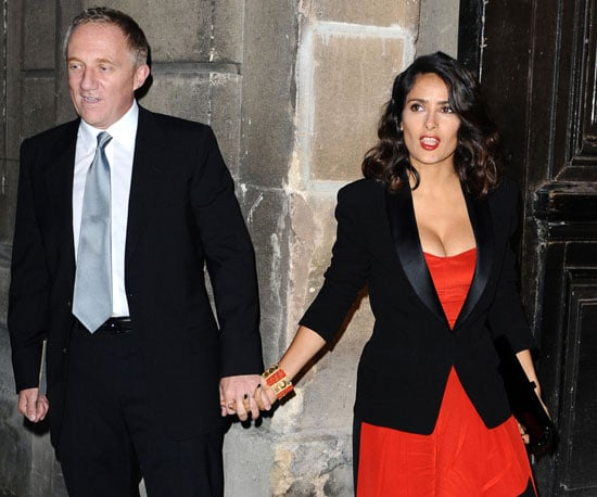 Slide Picture of Salma Hayek and Francois Henri Pinault at Fashion Week
