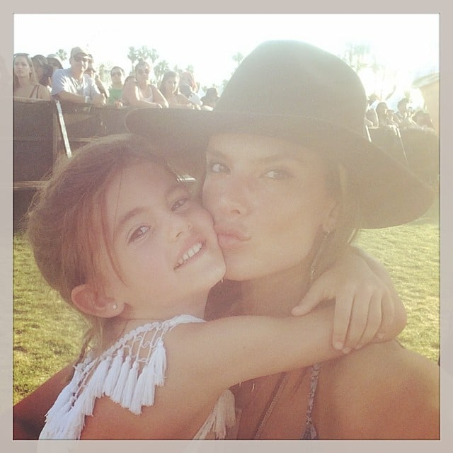 Alessandra Ambrosio had fun at Coachella with her daughter, Anja.  Source: Instagram user alessandraambrosio