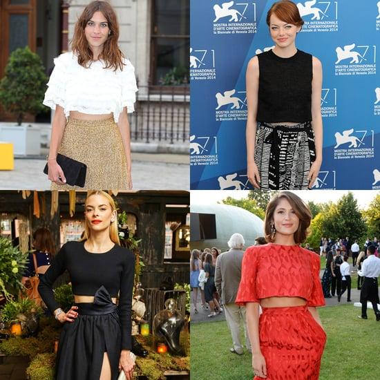 Celebrities Wearing Crop Tops Summer 2014