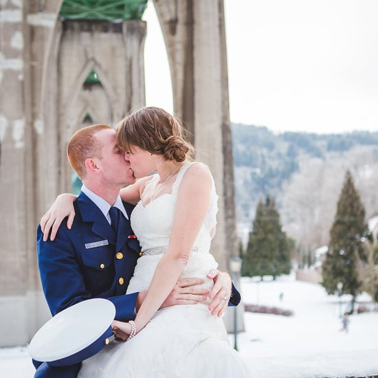 Snowy Oregon Wedding