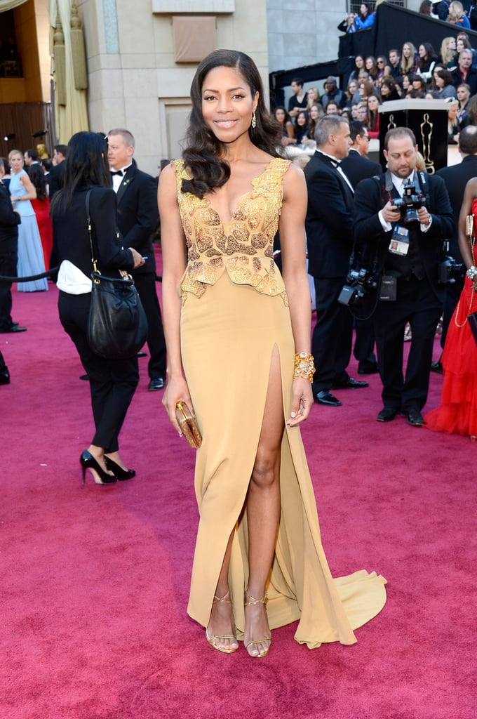 Naomie Harris on the red carpet at the Oscars 2013.