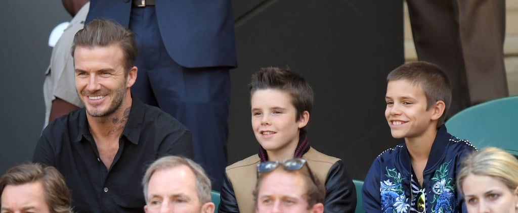 David Beckham Bonds With Sons Romeo and Cruz During a Day Out at Wimbledon