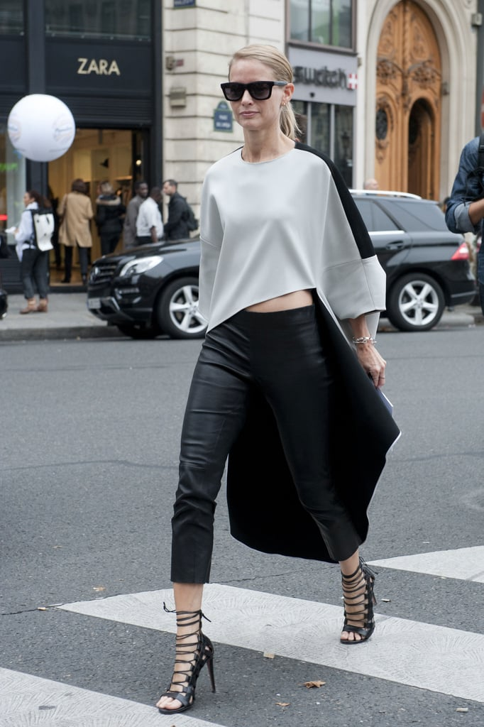 A standout silhouette and a great pair of heels made the look.