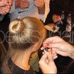 Backstage Makeup at 2011 Spring London Fashion Week