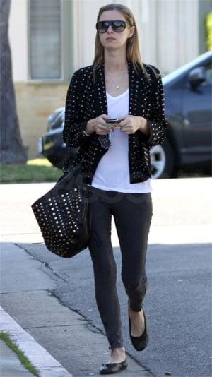 Nicky Hilton Wearing a Studded H&M Blazer in LA