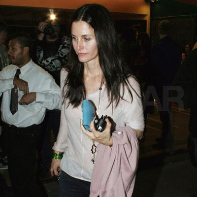 Courteney Cox at Sheryl Crow's Concert