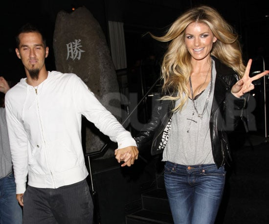 Slide Picture of Marisa Miller and Husband in LA