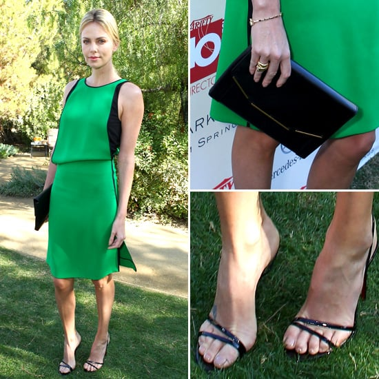 Charlize Theron's Green Dress in Palm Springs