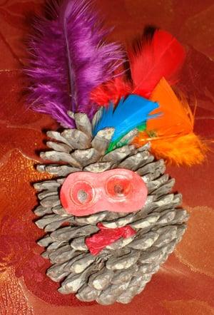 Arts and Crafts: Pine Cone Turkeys