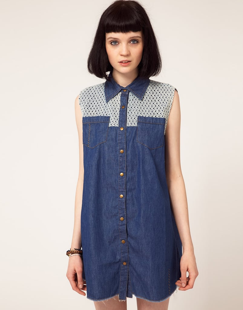 The crochet detail juxtaposed against the darker denim wash and pointed collar injects this more Western-inspired dress with femininity. One Teaspoon Crochet Trim Denim Shirt Dress ($128, originally $182)