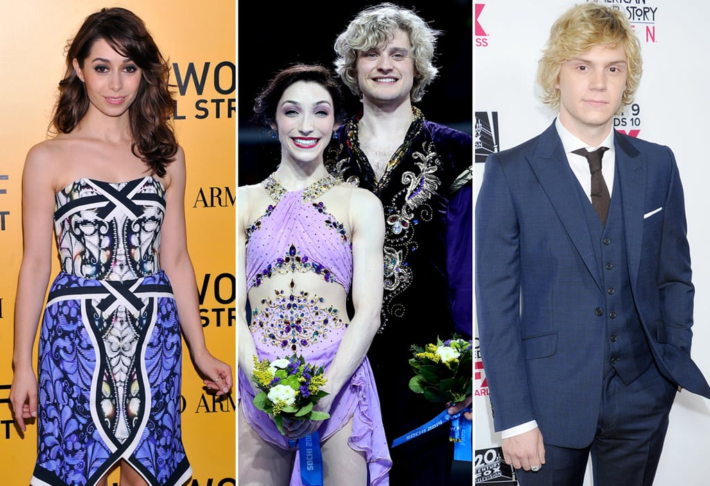 Meryl Davis and Charlie White Played by Cristin Milioti and Evan Peters