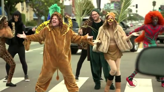 Seth Rogen, Rose Byrne Perform 'The Lion King' With James Corden in a Crosswalk: Watch Now!