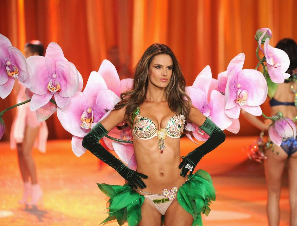 Alessandra Ambrosio wore the Fantasy Bra at the Victoria's Secret Fashion Show.