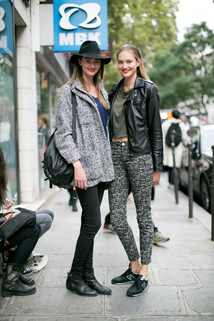 These girls know it just takes a pop of print.