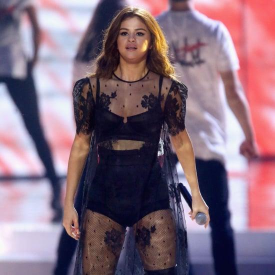 Selena Gomez Sheer Houghton Dress at WE Day Performance