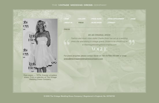 Fab Site: TheVintageWeddingDressCompany.com