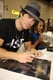 Ian Somerhalder's smolder came out as he signed The Vampire Diaries posters on Saturday.