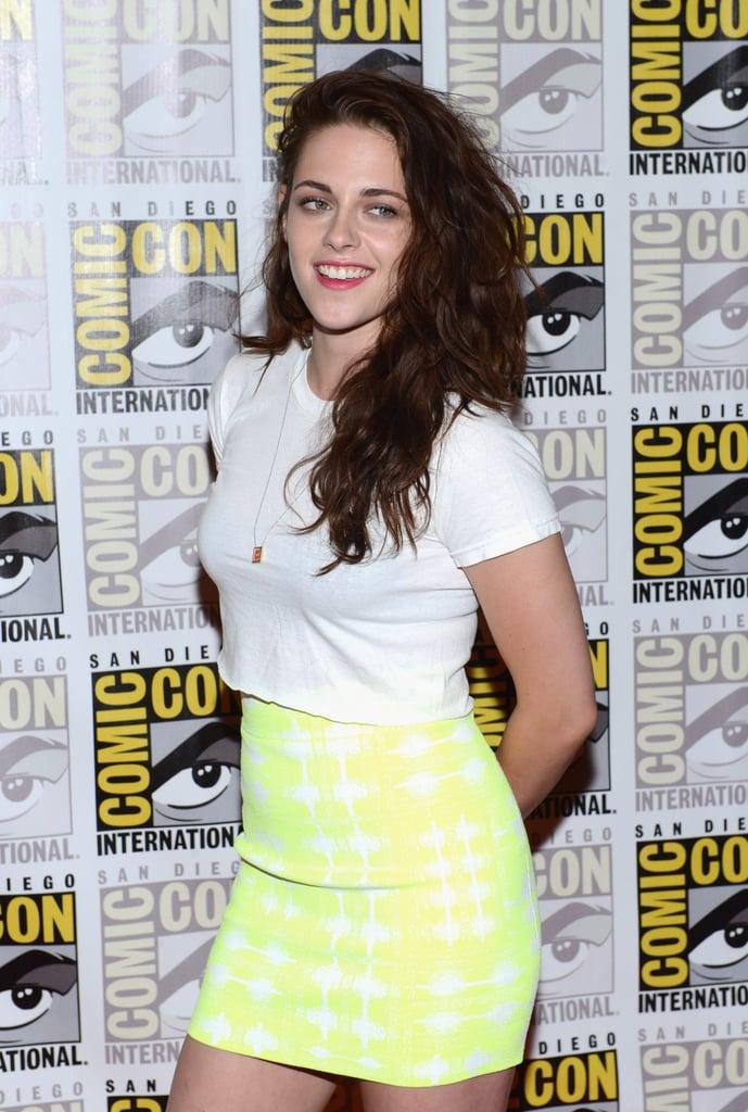 Kristen Stewart smiled at Comic-Con.