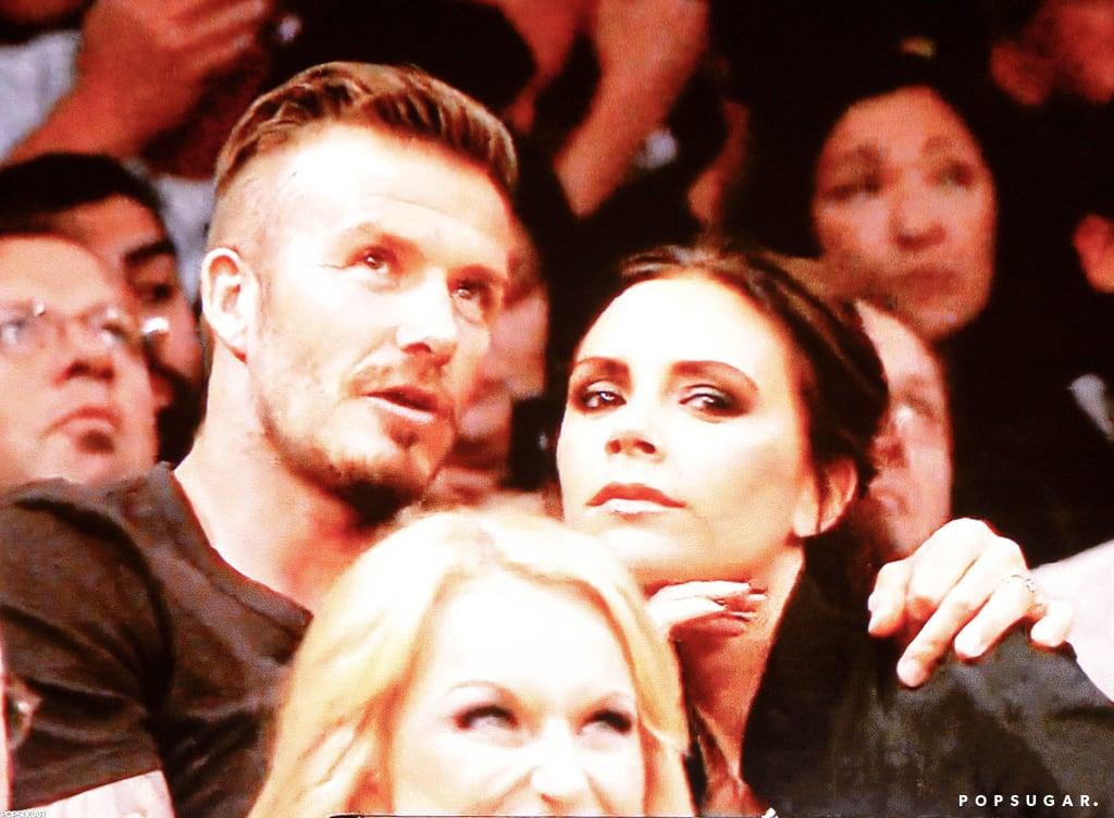 David Beckham and Victoria Beckham watched the Lakers.
