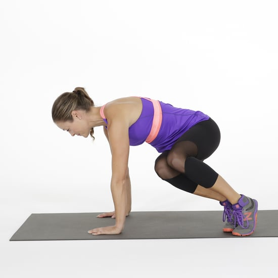 Plank With Bunny Hop Exercise