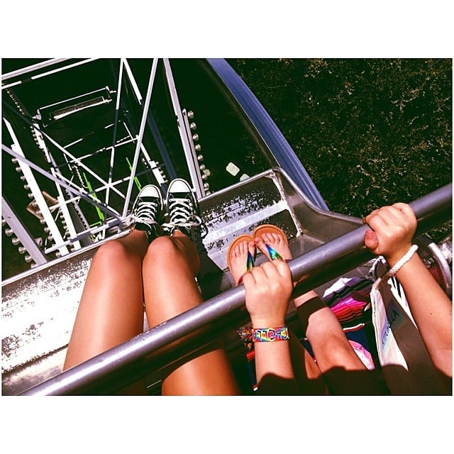 Kendall whipped out her phone to capture the view from the top of the Ferris wheel.  Source: Instagram user kendalljenner