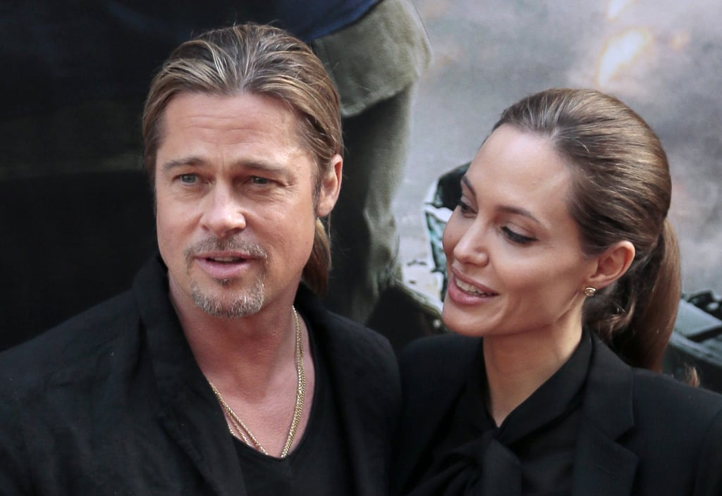Angelina Jolie was by Brad Pitt's side at his Paris premiere.