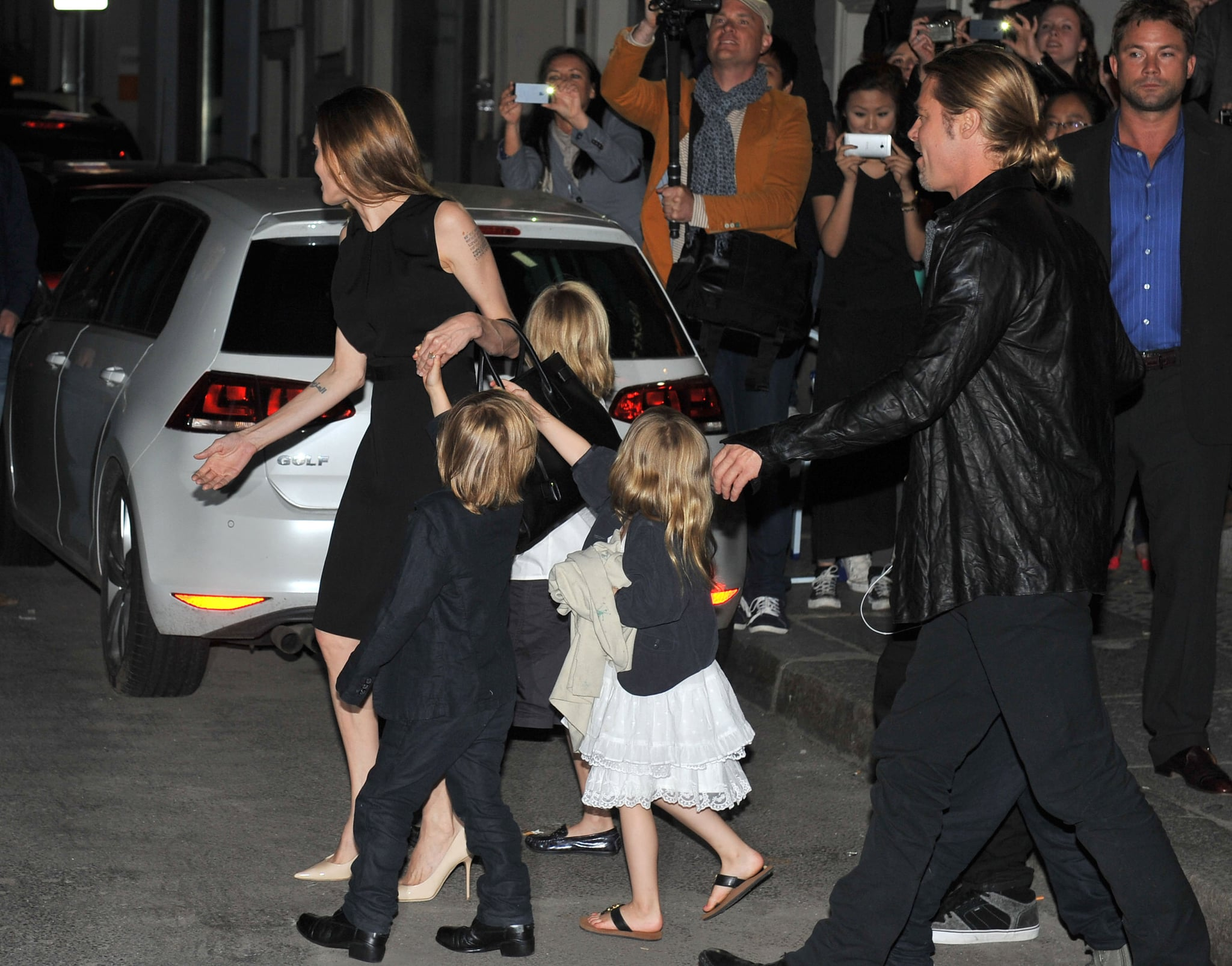 Brad Pitt and Angelina Jolie brought the twins, Vivienne Jolie-Pitt and Knox Jolie-Pitt, to Berlin for Brad Pitt's World War Z tour in June.