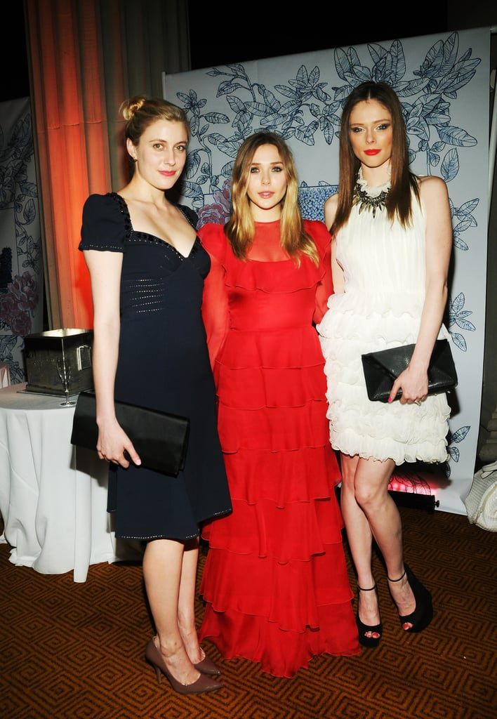 Elizabeth Olsen linked up with Greta Gerwig and model Coco Rocha at the Grand Chefs Dinner in NYC.