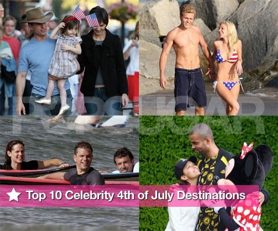Top 10 Celebrity Fourth of July US Destinations!