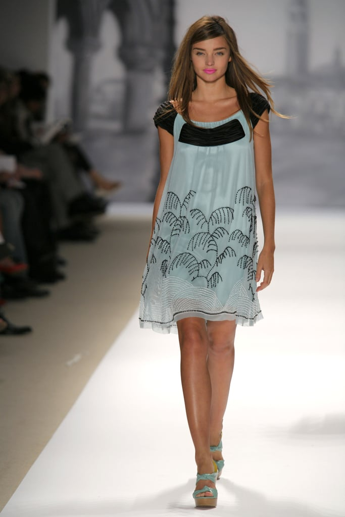Before she was an angel, Miranda Kerr  walked the runway for Nanette Lepore's Spring 2007 show.