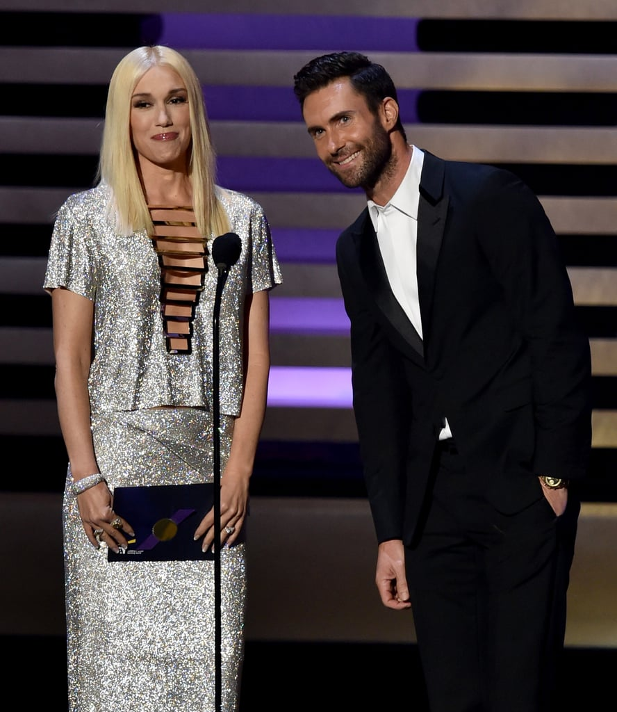 Gwen Stefani and Adam Levine teamed up to present.