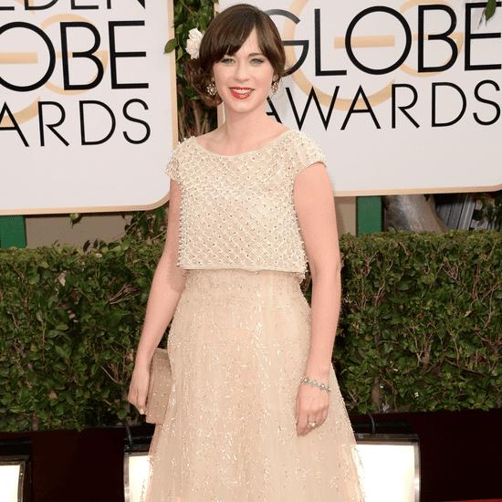 Zooey Deschanel Dress on Golden Globes 2014 Red Carpet