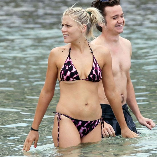 Busy Philipps donned a two-piece to film Cougar Town in Hawaii during a March 2011 trip.