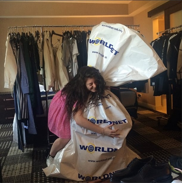 Before Lorde took the stage, she got more than a little excited over this care package from Balenciaga. Source: Instagram user lordemusic