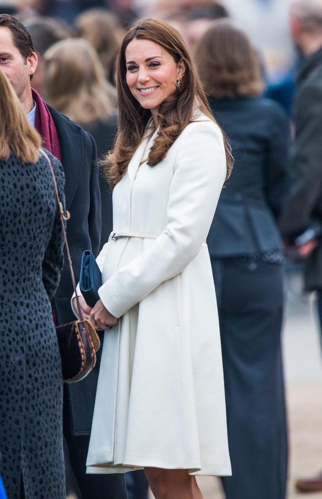 Kate Middleton Shows Off Baby Bump At Cruise Liner Naming Ceremony pics