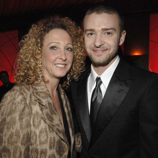 Justin Timberlake's mom, Lynn Harless, accompanied him to a 2007 Golden Globe afterparty in LA.