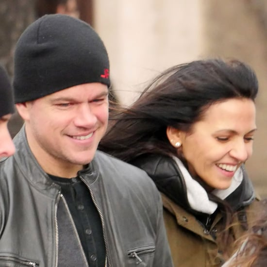 Matt Damon and Luciana Barroso Walking in Berlin