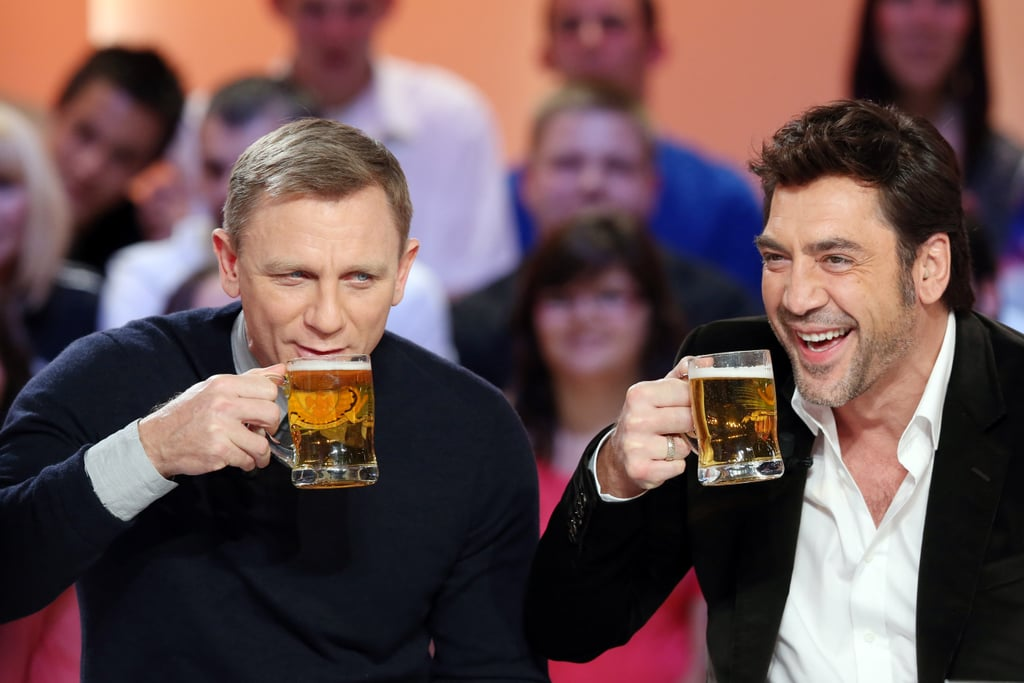 Daniel Craig and Javier Bardem attended an event in Paris.