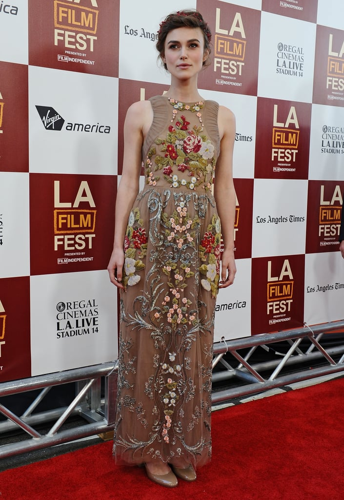 Keira Knightley posed on the red carpet at the LA premiere of Seeking a Friend For the End of the World.