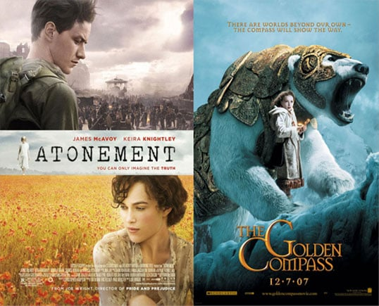Which Do You Want to See More: Atonement or The Golden Compass?
