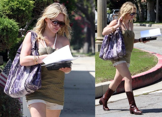 Photos of Hilary Duff in Short Shorts and Cowboy Boots in LA