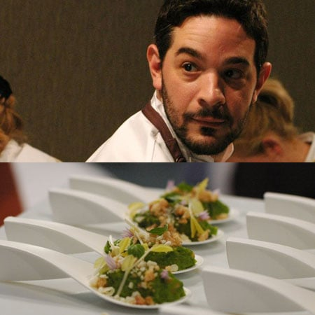 "Jeremy Fox, of Napa's Ubuntu, showcased the most unique — not to mention my favorite — dish of the night. Called ""Peas in Their Own Pesto,"" it contained macadamia nuts and white chocolate.  Although it sounds strange, the bite was wonderfully balanced."