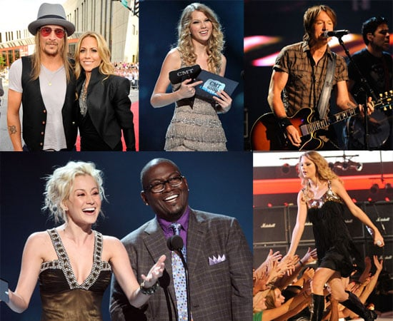 Photos from 2009 CMT Awards Including Taylor Swift,  Sheryl Crow, Kid Rock, T-Pain, Luke Wilson and Others