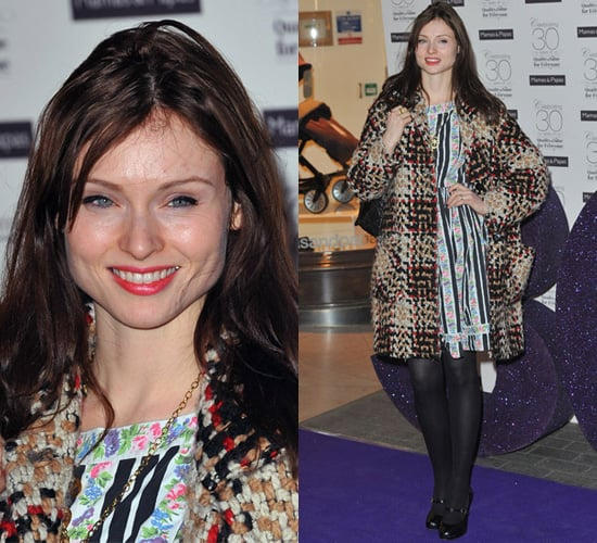 Photos of Sophie Ellis Bextor Clashing Printed Coat with Dress