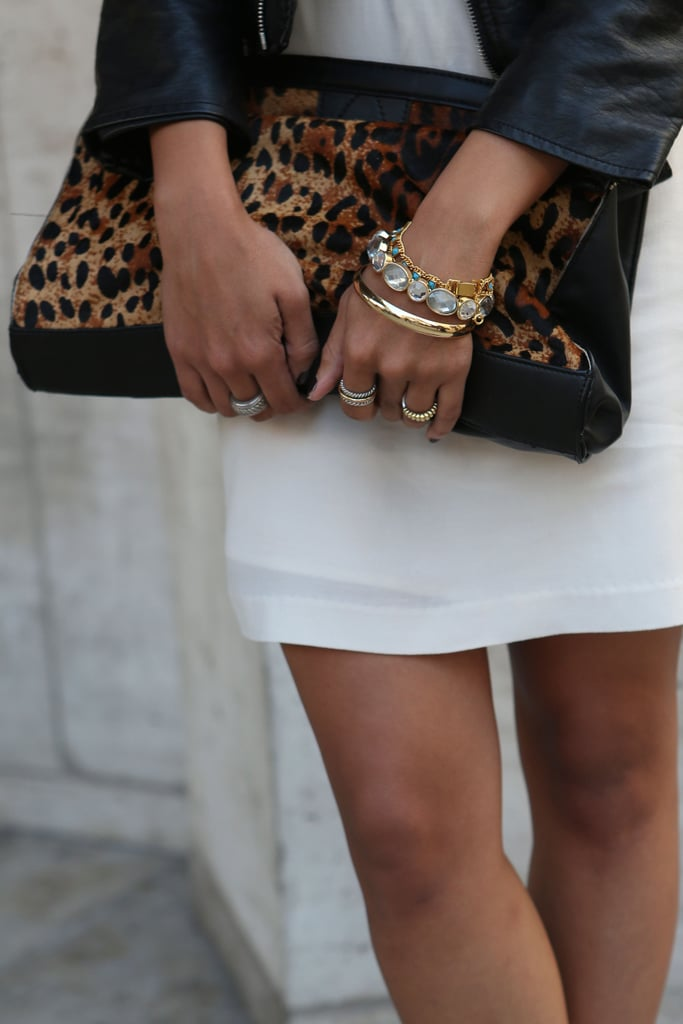 We're always suckers for a great animal print — this clutch was a perfect take on the pattern.